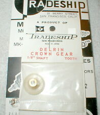 """32 Tooth CROWN Gear DELRIN Tradeship #522 Set Screw type  48 pitch 1/8"""" axle NOS"""