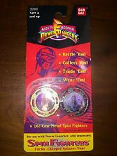 1993 MIGHTY MORPHON POWER RANGERS SPIN FIGHTERS TURBO CHARGED SPINNER TOPS BIP A