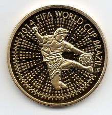 World Cup 2014 Gold Coin Russian USSR CCCP Soccer Brazil Rio 2016 FIFA UEFA Nice