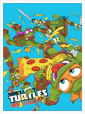 Mondo TMNT limited variant poster #115/125 Teenage Mutant Ninja Turtles in hand