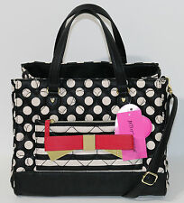 New Betsey Johnson Quilted Bag in a bag Satchel Handbag Shoulder Bag Polka Dot