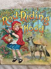 Little Red Riding Hood 1929, Verses by Julia Anne Rogers, Great Illustrations!