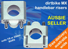 HANDLE BAR RISERS FOR SUZUKI DRZ125 DR250 TRAIL BIKE WITH 7/8 22MM HANDLE BARS