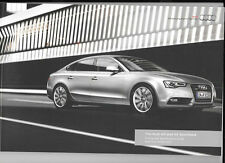 AUDI A5 & S5 SPORTBACK ILLUSTRATED PRICES/SPECIFICATION SALES BROCHURE OCT. 2012
