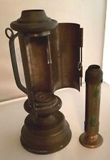 Antique-Copper-Brass-Pushup-Handheld or Hang on the wall -Candlestick-Lantern