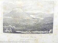 LS1127 Stadt und Festung Königstein Lithographie aus Saxonia