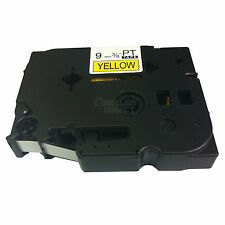 Brother Compatible P-touch TZ-621 9mm Black on Yellow TZ621 Tape
