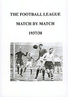 The Football League Match by Match 1937/38 Season Complete Statistics book