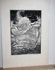 "SYDNEY LEE Signed Etching ""The Wave"" RARE Limited Edition 39/100 19th early 20th"