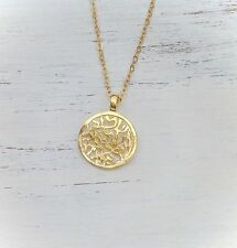 14k Gold Filled Pendant Protection Shema Israel Prayer Necklace Shema Charm