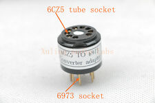 1pc Gold plated 6CZ5 TO 6973 tube converter adapter