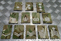 Genuine British Army Desert MTP MultiCam Camo Rank Slide Various Ranks - NEW