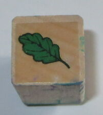 Leaf Rubber Stamp Leaves Wood Mounted Mini Trees Fall