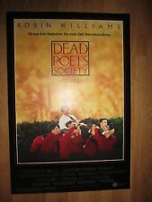 MOVIE POSTER: DEAD POETS SOCIETY   Original American One Sheet    Robin Williams