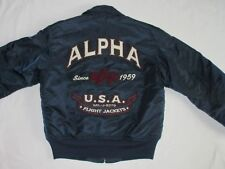 *ALPHA INDUSTRIES FLIEGER BOMBER JACKE*VINTAGE*CWU 45*AIR FORCE*GR: S*WIE NEU