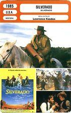Fiche Cinéma. Movie Card. Silverado (USA) Lawrence Kasdan 1985