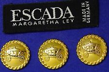 3 ESCADA STAGE COACH DESIGNER SOLID METAL REPLACEMENT BUTTONS GOOD COND. $39.95