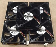 5 x Black 12V 80mm x 80mm x 25mm Brushless PC cooling Fan cooler 3 Pin