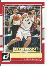 Luis Scola 2015-16 Donruss Gold Press Proof Card 7/10 SSP
