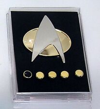 Star Trek Next Generation Metal Communicator Pin & Rank Pip Set of 6