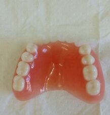 PARTIAL UPPER ACRYLIC DENTURE,ULTRA WHITE-FALSE TEETH- NEW,JOKES,NOVELTY,DISPLAY