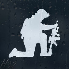 Army Soldier With Military Rifle Car Decal Vinyl Sticker For Window Panel