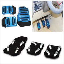 3 X Blue Manual Series Car Vehicle Nonslip Foot Pedals Pad Safety For Mitsubishi