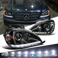 1998-2001 Benz W163 ML320 ML430 ML55 AMG Black SMD LED DRL Projector Headlights