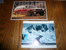 1996 2001 Subaru Outback Legacy Sales Brochures Forester Impreza SVX LSI - Two