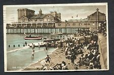 View of Pier & Union Sands, Bognor. 1d Red Postal Congress Stamp - 1929.