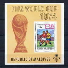 s5190) MALDIVE 1974 MNH** World Cup Football - Coppa del Mondo Calcio S/S