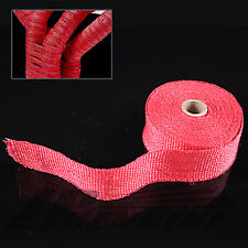 "2"" X 295"" HEAT INSULATION WRAP RED FOR TURBO / HEADER / INTAKE / DOWNPIPE"