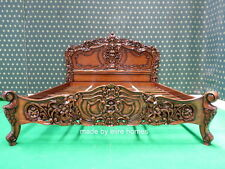 MAHOGANY 5' UK King Size French Baroque Louis style .....TOP Quality Rococo Bed