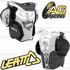 Leatt 2014 Fusion 2.0 Junior Niños Neck Brace Armour Blanco/negro S/m Motocross