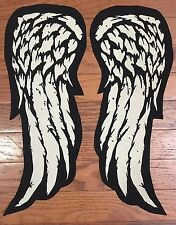 "Walking Dead / Daryl Dixon Inspired Custom Set Of 15"" Long Angel Wings Patches"