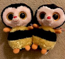 Ty Beanie Boo Sting, Clear Eyes 2012  & Sparkle Eyes 2013, Both MWMT - NEW, RARE