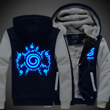 Anime Naruto Uzumaki Unisex Clothing Thicken Jacket Sweater Hoodie Luminous #C45