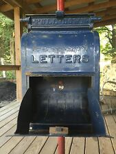 Antique 1922 Cast Iron U.S. US Post Office Mail Letter Box - Free Standing Post