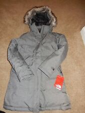 NWT Women's North Face Medium Graphite Grey Heather Arctic Down Parka Jacket