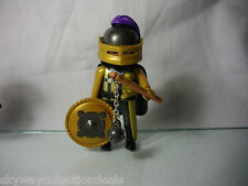 Rare Special Playmobil figure -4602,Duel Knight in gold Armor,Castle.2002.