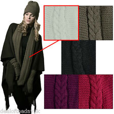 Pia Rossini Ladies Knitted Snood Thermal Neck Warmer Long Scarf White Scarves