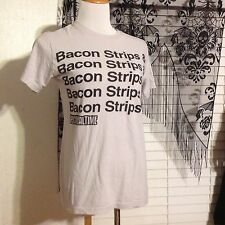 BAY ISLAND SHIRT Size Small Epic Meal Time Bacon Strips & Bacon Strips