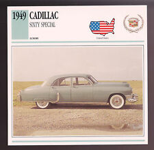 1949 Cadillac Sixty Special (60) Car Photo Spec Sheet Info Stat ATLAS CARD