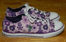 Converse One Star Purple Floral Sneakers Size 5 NWOT!