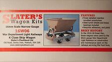 Slaters 16W06 War Department K Class Skip Wagon Kit 16mm Scale 32mm Gauge T48Pos