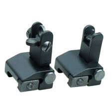 Tactical 556 223 Micro Flip Up Rapid Transition Front and Rear Iron Sight Set