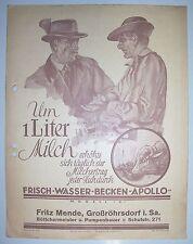 Reklame Prospekt Frischwasser Becken Apollo Fritz Mende Großröhrsdorf Sa. 1927 !