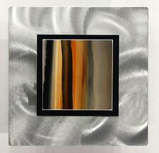 Contemporary Earth-Tone Abstract Metal Wall Art Sculpture - OJ 553 by Jon Allen