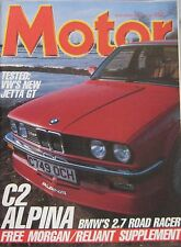 Motor magazine 19/4/1986 featuring BMW Alpina C2 road test, VW Jetta GT
