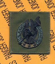 US Army Recruiter OD Green & Black badge cloth patch